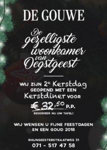 2de Kerstdag hebben wij het Gouwe Kerst Diner @ De Gouwe | Oegstgeest | Zuid-Holland | Nederland